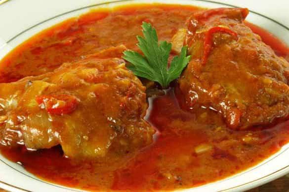 Хек с доматен сос за белтъчен ден